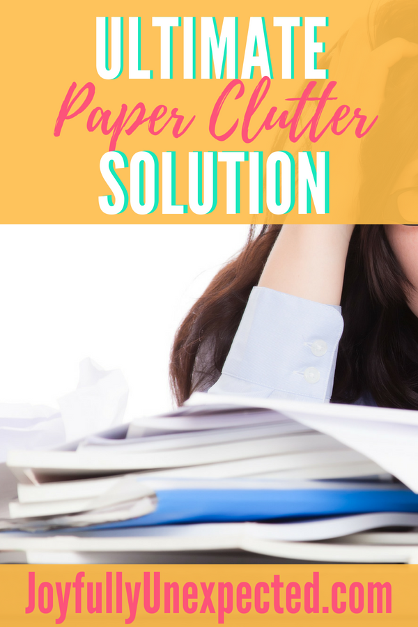 Ultimate Paper Clutter Solution