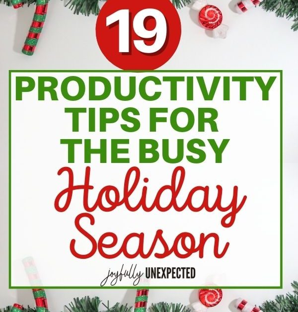 How to Be Productive During Holidays