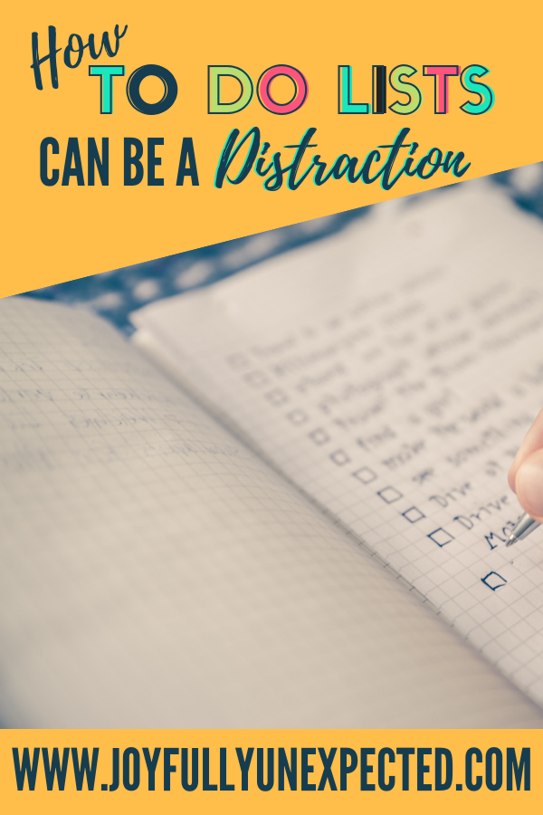 why daily to do lists can be a distraction